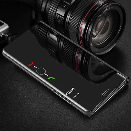 Etui na Huawei Y6 2019 - Flip Clear View z klapką - Czarny.