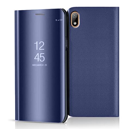 Etui na Huawei Y5 2019 - Flip Clear View z klapką - Granatowy.