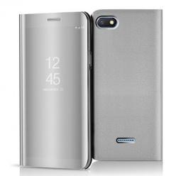 Etui na Xiaomi Redmi 6A - Flip Clear View z klapką - Srebrny.