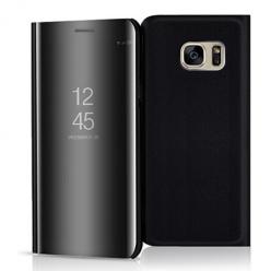 Etui na Samsung Galaxy S7 - Flip Clear View z klapką - Czarny