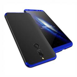 Etui na telefon Huawei Mate 10 Lite - Slim MattE 360 - Czarno/Niebieski.
