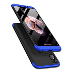 Etui na telefon Xiaomi Redmi Note 5 Pro - Slim MattE 360 - Czarno/Niebieski.