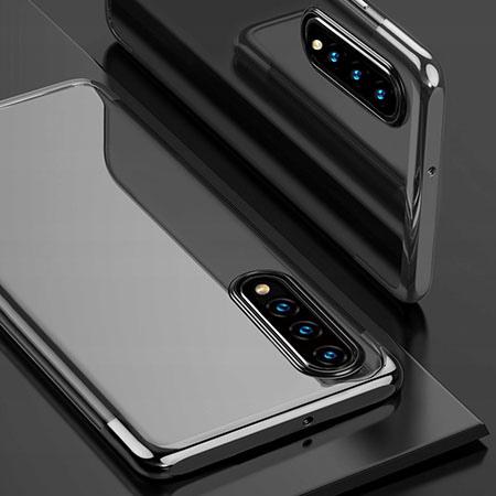 Etui na Galaxy A50 - platynowane SLIM - Czarny
