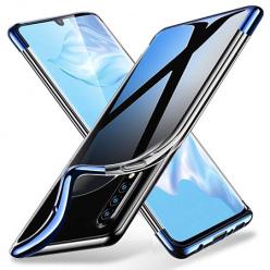Etui na Huawei P30 Pro - platynowane SLIM - Niebieski