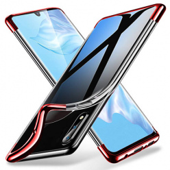 Etui na Galaxy A70 - platynowane SLIM - Czerwony