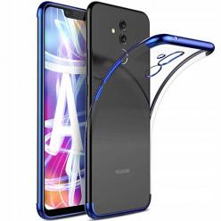 Etui na Huawei Mate 20 Lite - platynowane SLIM - Niebieski