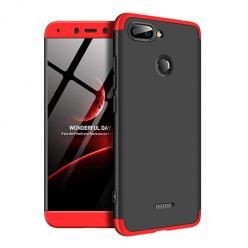 Etui na telefon Xiaomi Redmi 6 - Slim MattE 360 - Czarno/Czerwony.