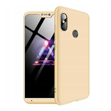 Etui na telefon Xiaomi Redmi Note 6 Pro - Slim MattE 360 - Złoty.