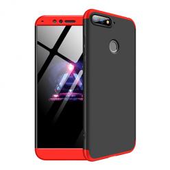 Etui na telefon Huawei Y6 2018 - Slim MattE 360 - Czarno/Czerwony.