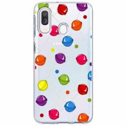 Etui na Samsung Galaxy A20e - Kolorowe lizaki.