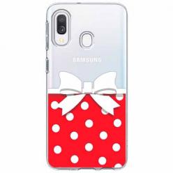 Etui na Samsung Galaxy A20e - Gustowna kokardka.