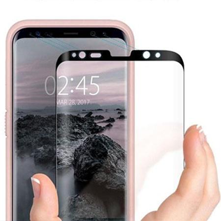 Samsung Galaxy S8 hartowane szkło Spigen Glass.TR - Czarny.