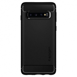 Etui na Galaxy S10 Plus Spigen Rugged Armor - Czarny