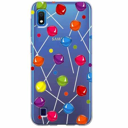 Etui na Samsung Galaxy A10 - Kolorowe lizaki.