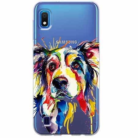 Etui na Samsung Galaxy A10 - Watercolor pies.