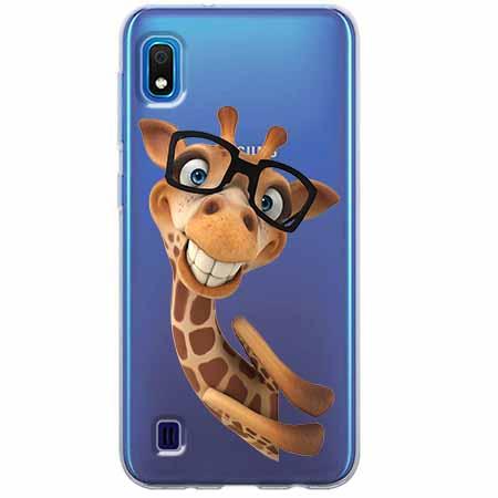 Etui na Samsung Galaxy A10 - Żyrafa w okularach.