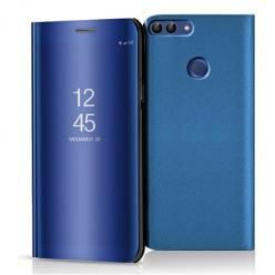 Etui na Huawei P Smart 2018 - Flip Clear View z klapką - Niebieski.