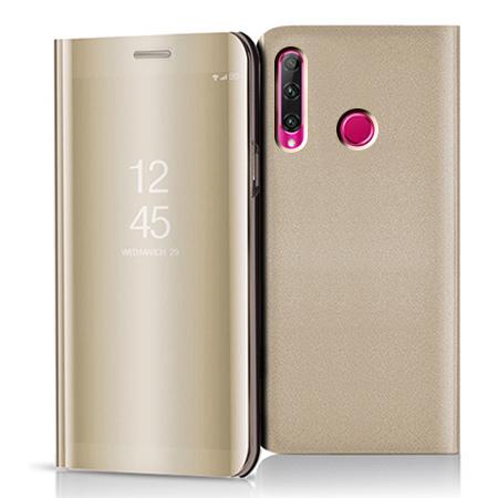 Etui na Huawei Honor 20 Lite - Flip Clear View z klapką - Złoty.