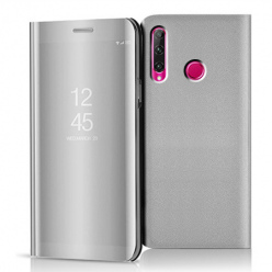 Etui na Huawei Honor 20 Lite - Flip Clear View z klapką - Srebrny.