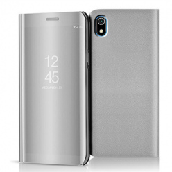 Etui na Xiaomi Redmi 7A - Flip Clear View z klapką - Srebrny.