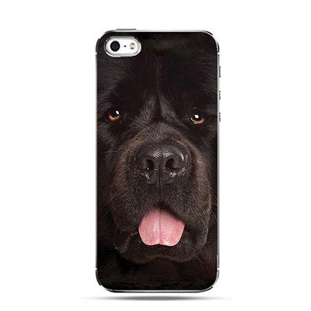 Etui czarny pies nowofundlandczyk Face 3d