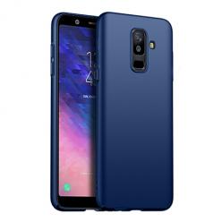 Etui na telefon Galaxy A6 Plus 2018 - Slim MattE - Granatowy.