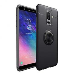 Etui na Samsung Galaxy A6 Plus 2018 - Pancerne Magnet Ring - Czarny.