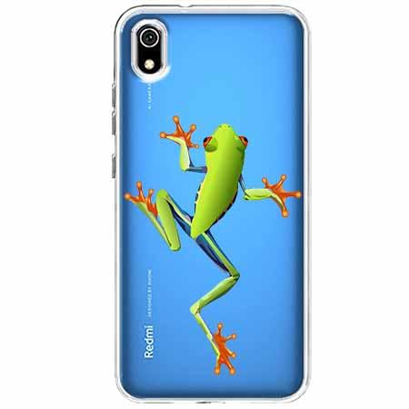 Etui na Xiaomi Redmi 7A - Zielona żabka.