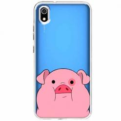 Etui na Xiaomi Redmi 7A - Słodka różowa świnka.