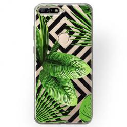 Etui na Huawei Y6 Prime 2018 - Egzotyczne liście bananowca.