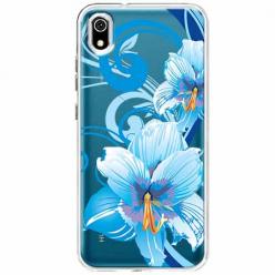 Etui na telefon Huawei Y5 2019 - Niebieski kwiat północy.