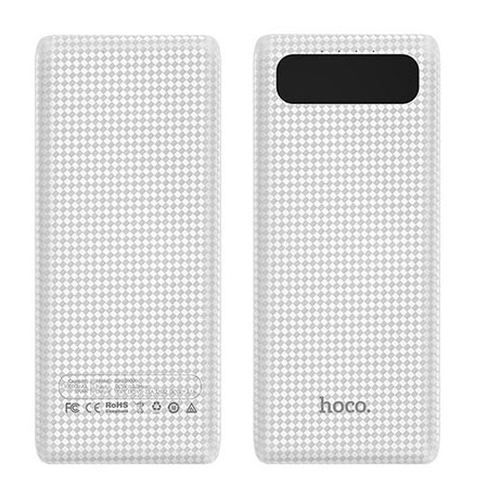 Hoco Power bank ładowarka 20 000mAh z LCD - Biały