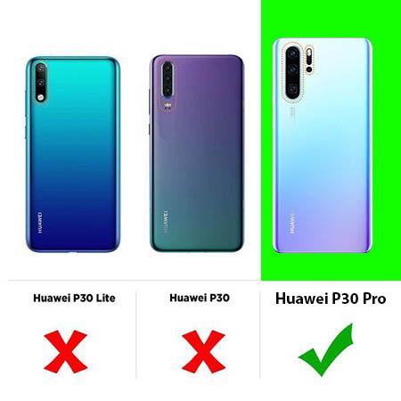 Etui na telefon Huawei P30 Pro - Niebieski kwiat północy.