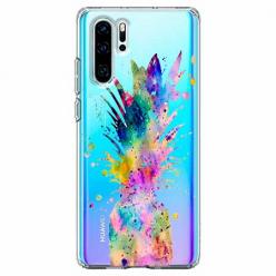 Etui na telefon Huawei P30 Pro - Watercolor ananasowa eksplozja.