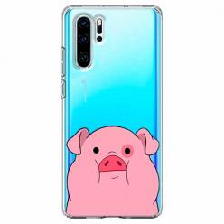 Etui na telefon Huawei P30 Pro - Słodka różowa świnka.