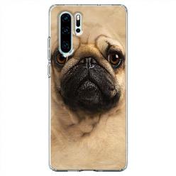 Etui na telefon Huawei P30 Pro - Pies Szczeniak face 3d