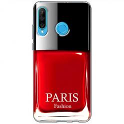 Etui na telefon Huawei P30 Lite - Czerwony lakier do paznokci