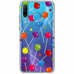 Etui na telefon Huawei P30 Lite - Kolorowe lizaki.