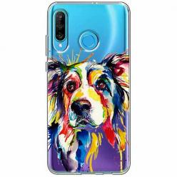 Etui na telefon Huawei P30 Lite - Watercolor pies.