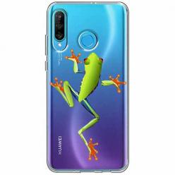 Etui na telefon Huawei P30 Lite - Zielona żabka.