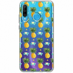 Etui na telefon Huawei P30 Lite - Ananasowe szaleństwo.