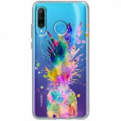Etui na telefon Huawei P30 Lite - Watercolor ananasowa eksplozja.