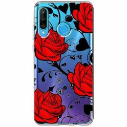 Etui na telefon Huawei P30 Lite - Czerwone róże.