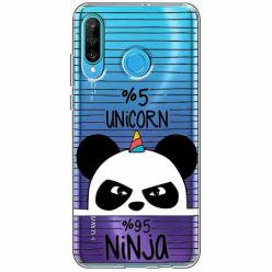 Etui na telefon Huawei P30 Lite - Ninja Unicorn - Jednorożec.