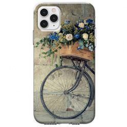 Etui na telefon Apple iPhone 11 Pro Max - Rower z kwiatami