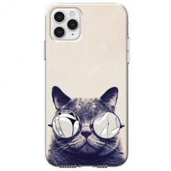 Etui na telefon Apple iPhone 11 Pro Max - Kot w okularach