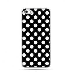 Etui na Apple iPhone 6 plus - Polka dot groszki czarna