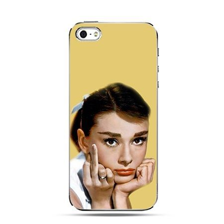 Audrey Hepburn fuck you - Twarde Etui z nadrukiem iPhone 6 plus