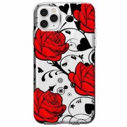 Etui na telefon Apple iPhone 11 Pro Max - Czerwone róże.
