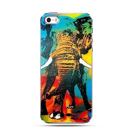 Etui na Apple iPhone 6 plus - Tęczowy słoń